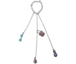 Silver Gift Bag Charm With Marcasite & Jewellers Enamel