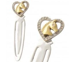 Horse Head In Heart Bookmark