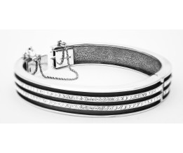 Silver Bangle Art Deco Bangle