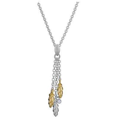 Silver Necklace Gold Plated Pendant