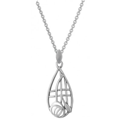 Silver Necklace Mackintosh Style Pendant And Chain