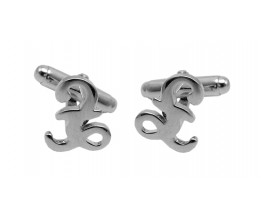 POUND SIGNS WITH TORPEDO FASTENER CUFFLINKS 925 STERLING SILVER