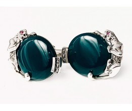 PANTHER CUFFLINKS ARE INSPIRED BY THE JEWELLERY WORN BY THE LATE DUCHESS OF WINDSOR