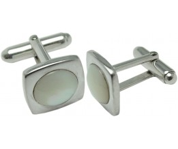 SQUARE SHAPE MOTHER OF PEARL CUFFLINKS 925 STERLING SILVER