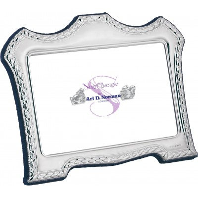 Victorian Style Photo Frame With Blue Velvet Back 9cm x 13cm Sterling Silver