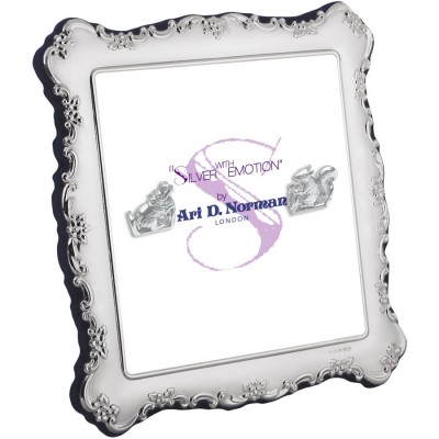 Victorian Style Photo Frame With Velvet Back 13cm x 13cm Sterling Silver
