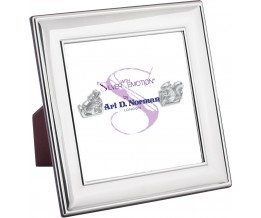 Photo Frame With Wooden Back 13cm x 13cm Sterling Silver