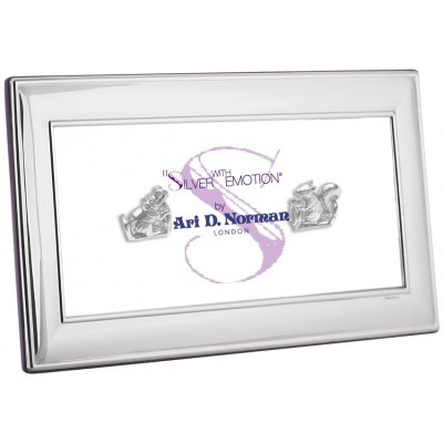 Panoramic Photo Frame With Wooden Back 25cm x 10cm Sterling Silver