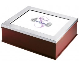 A Wooden Photo Frame Keepsake Box Sterling Silver