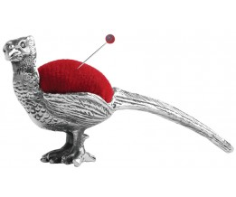 Pheasant Pin Cushion Sterling Silver