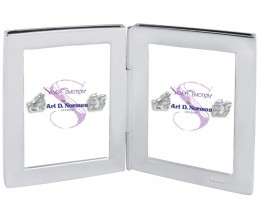 Double Rectangle Miniature Folding Travel Photo Frame