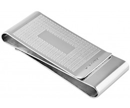 Double Sided Engine Turned Money Clip Sterling Silver