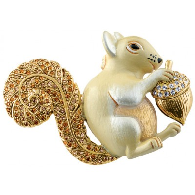 Gold Plated Squirrel Brooch