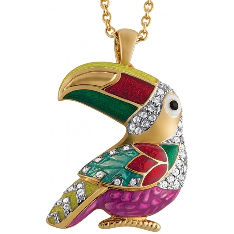 Gold Plated Toucan Brooch / Pendant