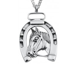 Lucky Horseshoe Pendant On Chain Sterling Silver