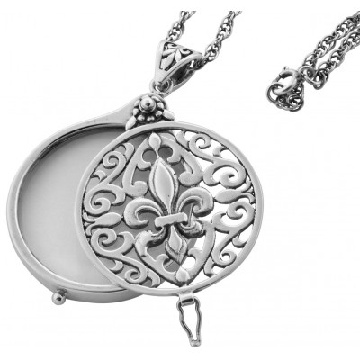 Magnifying Glass Pendant On Chain Sterling Silver