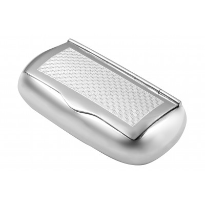 Sterling Silver Engine Turned Pattern Pill Box  Snuffbox