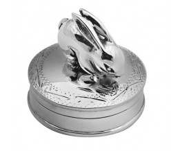 Sterling Silver Rabbit Pill Box